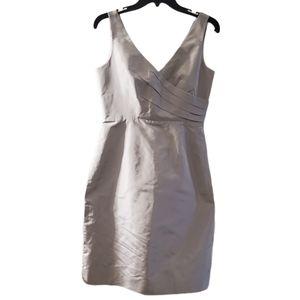 J.Crew Womens Gray Back Zip Bridesmaids Dress 4